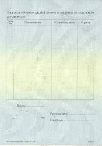 Приложение к диплому о профессиональной переподготовке (стр.2)