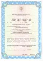 Лицензия страница 1